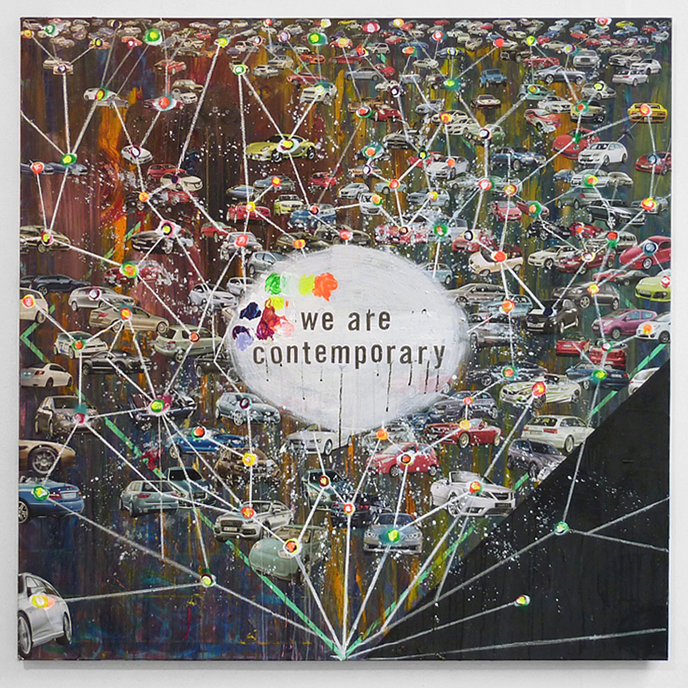 """We are contemporary"" 2012; 150 x 150 cm"