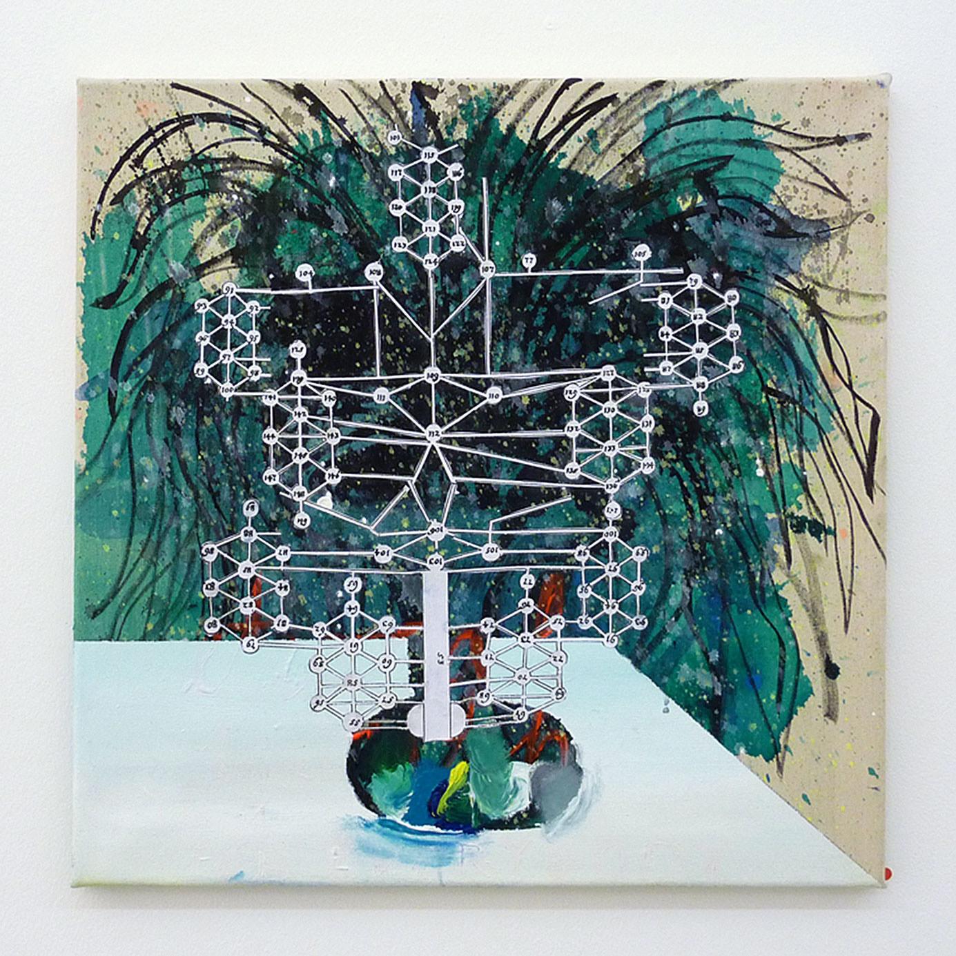 """The secret Garden"" 2012; 50 x 50 cm"