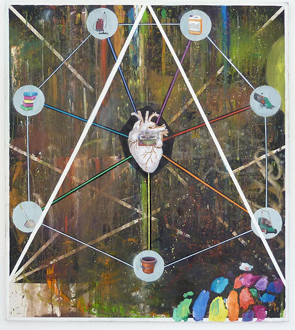 """""""Schuld und Scheisse"""" 2010; 170 x 150 cm"""