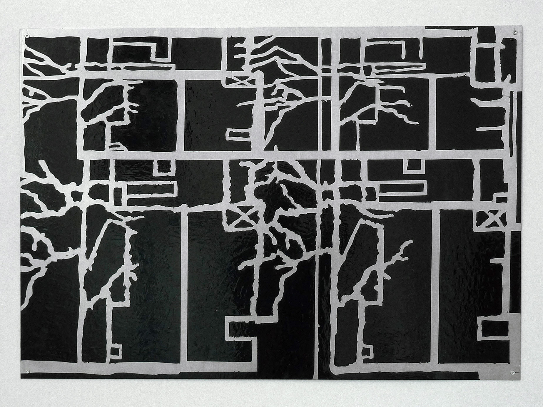 house in branches; 2008; 70 x 100 cm