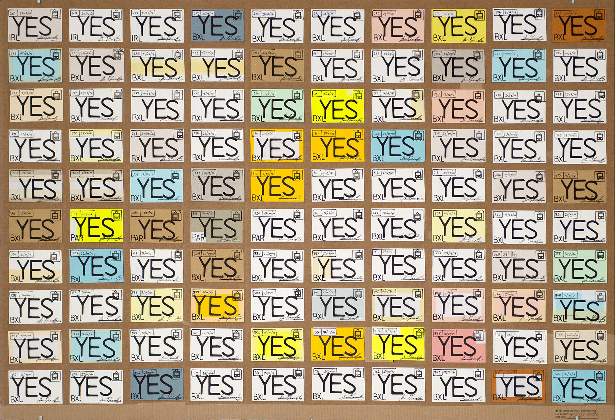 """Yes Yes Yes"" 2014; 63 x 96 cm"