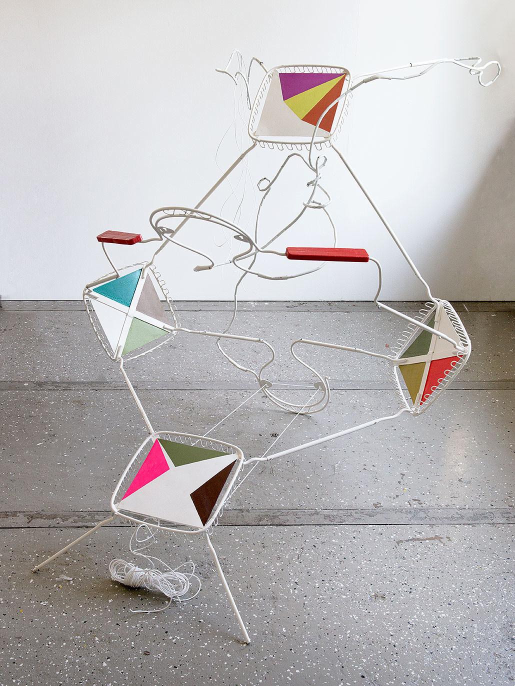 """whip"" 2013; 160 x 250 x 170 cm"