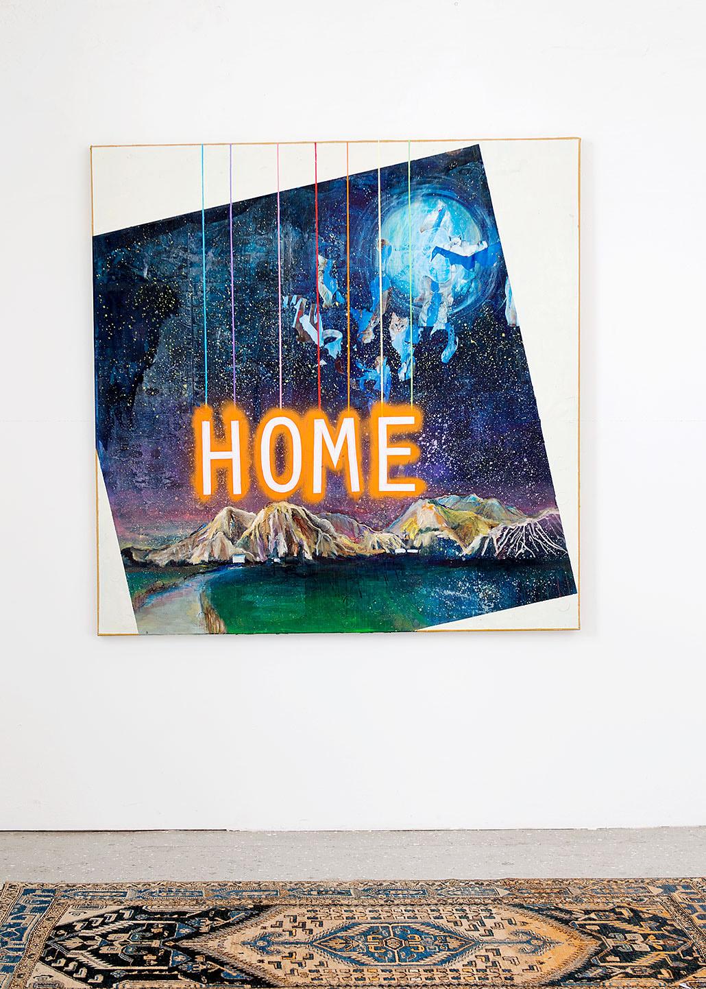 """Cats in the Cradle"" 2015; 150 x 150 cm"