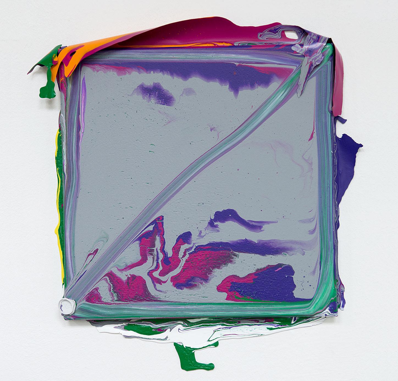 """""""Vermahlung 66"""" 2013; 30 x 30 cm"""