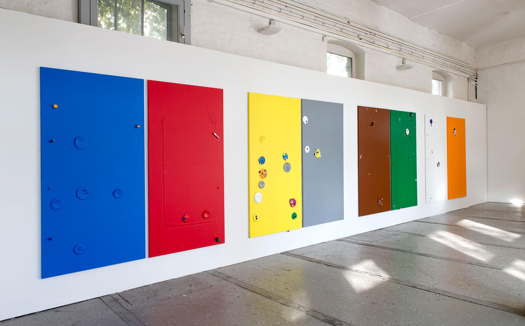 """""""Colour Garden 1 -8"""" 2015; 200 x 100 cm"""