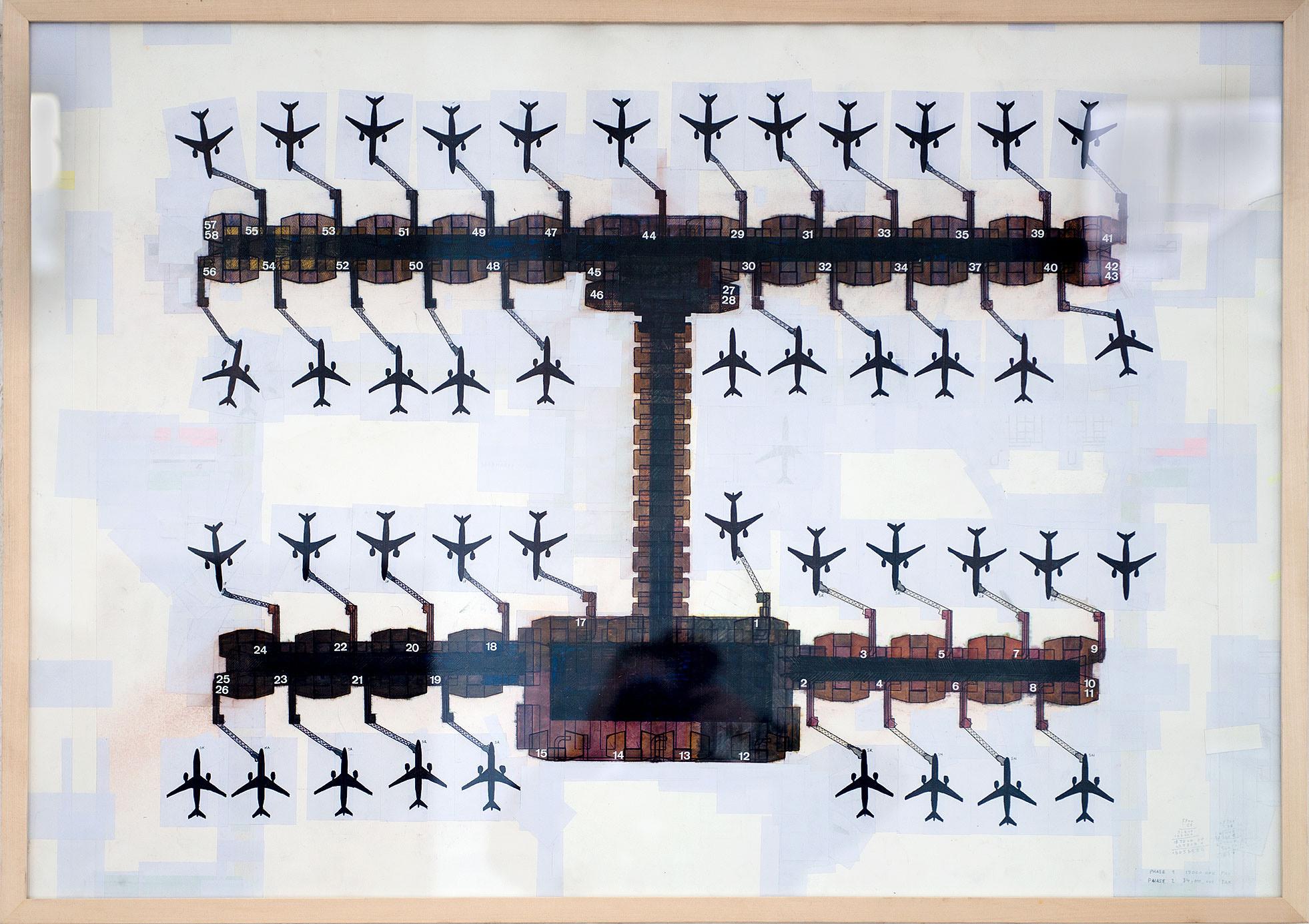 """""""Egon Krenz International Airport"""" 2016; 70 x 100 cm"""
