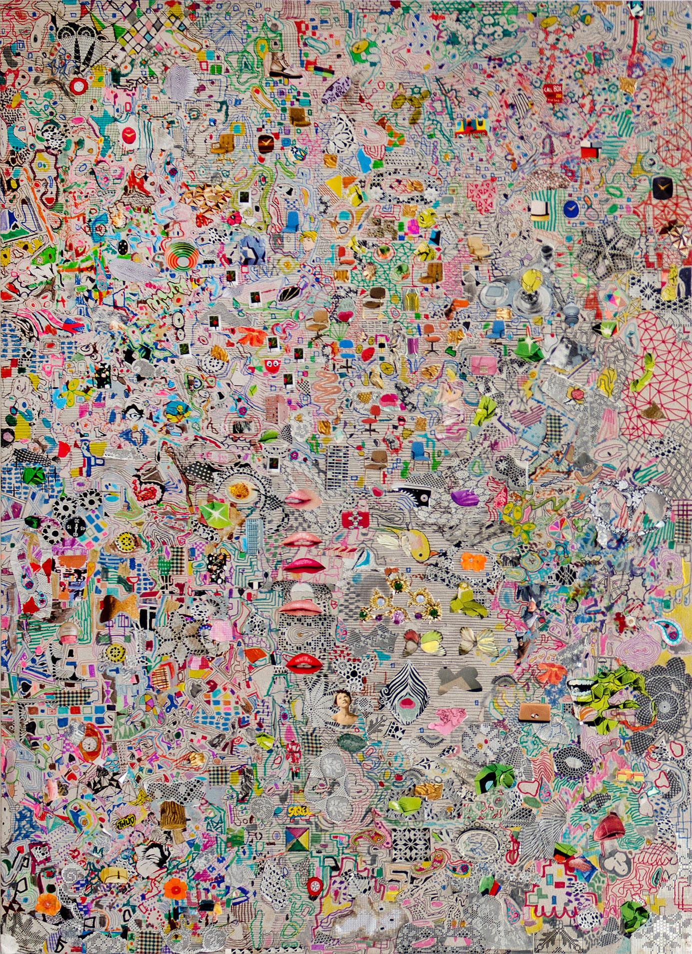 """""""Flanneur Work #1"""" 2016; 105 x 75 cm"""