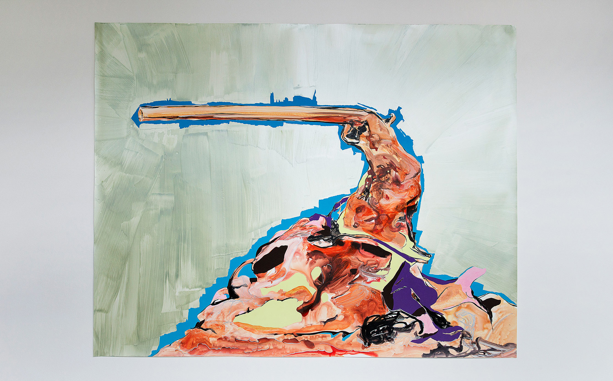 """Arm in Arm in Arm"", 2010; 153 x 195 cm"
