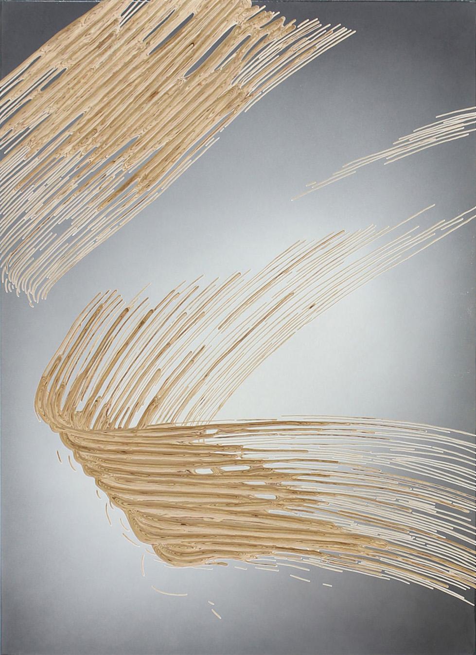 2017 o.T.  150 x 110 x 4 cm fade broom