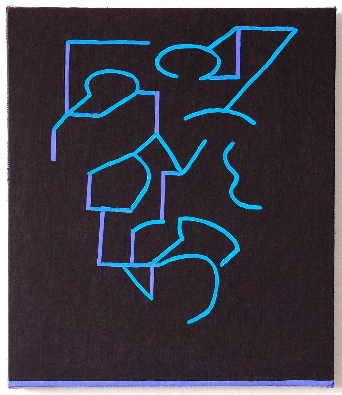 Jason Karolak, oil on canvas, 38 x3 3 cm, o.T