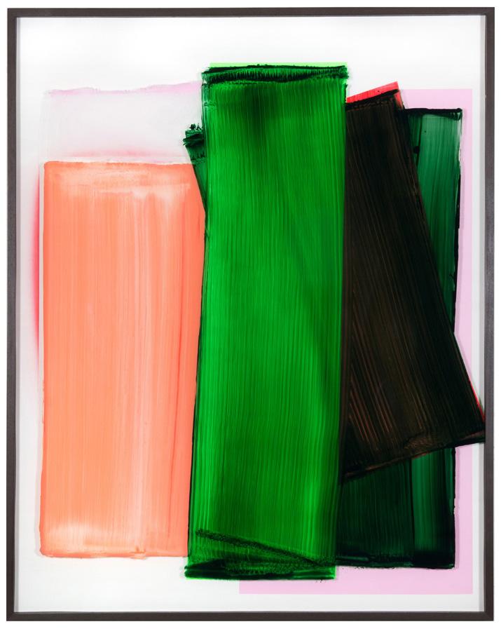 Alert, 155 x 122 cm, 2018, acrylic behind glass, acrylic and chrome varnish on wood