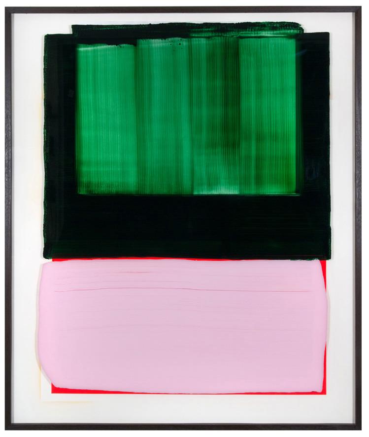 Do Not, 180 x 152 cm, 2018, acrylic behind glass, acrylic and chrome varnish on wood
