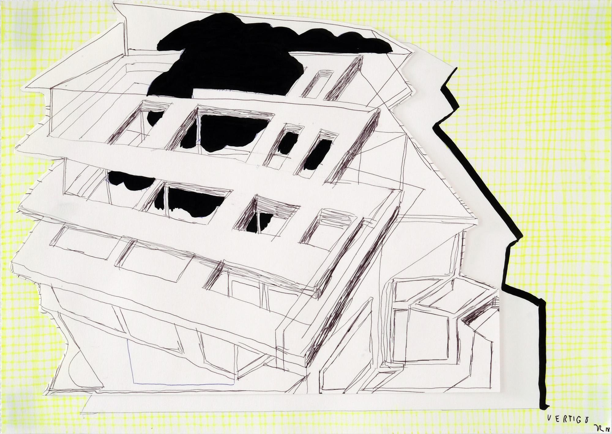 O.T.,29,7 x 42 cm, 2018, Mischtechnik auf Papier