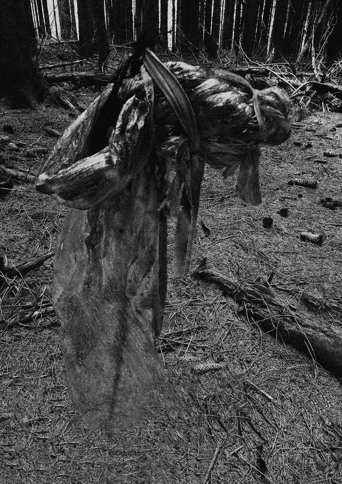 """""""Geister rufen"""", 54 x 41 cm, 2019, Pigmentdrucken auf Pop up Material"""