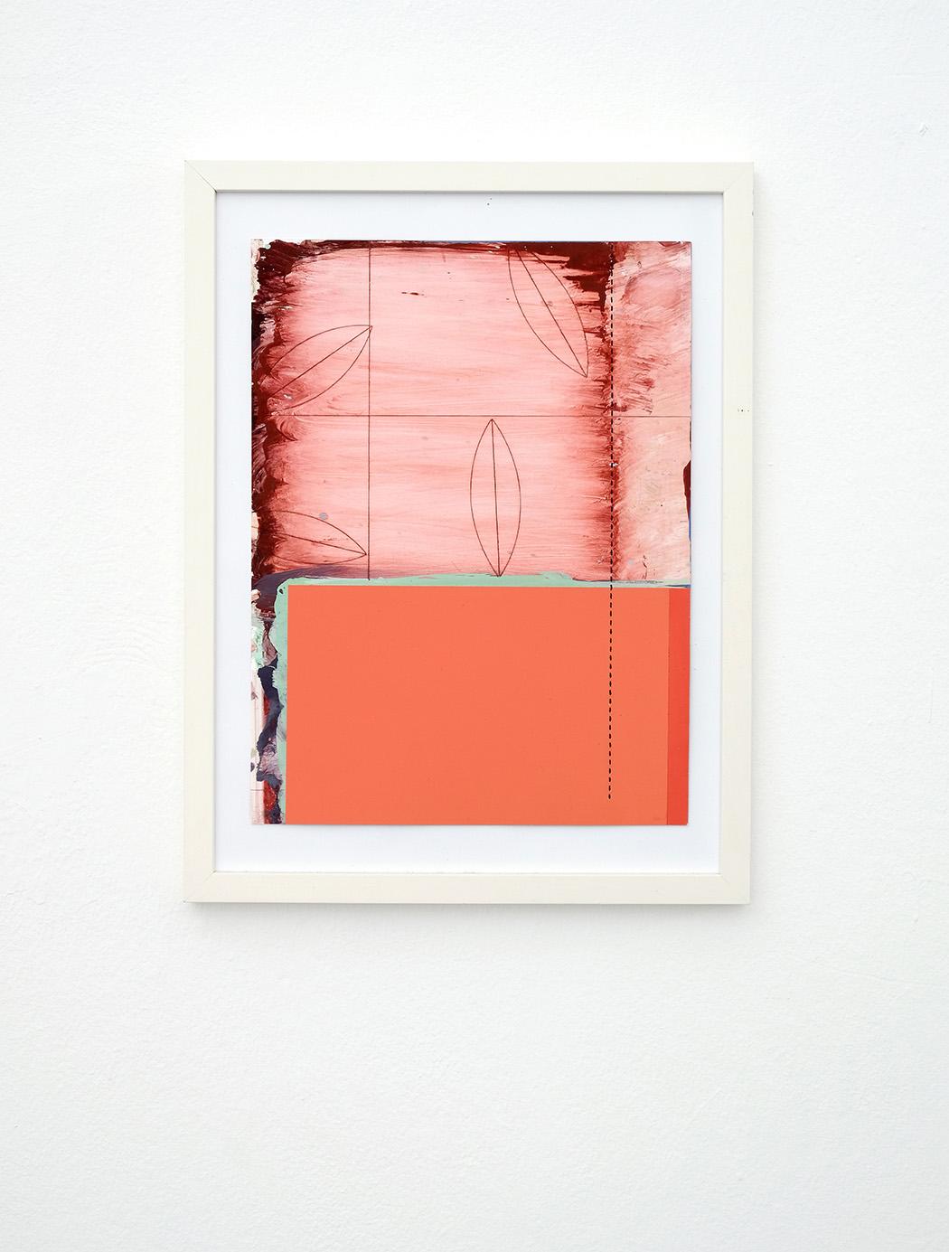 Dan Devening, acryl, collage on paper