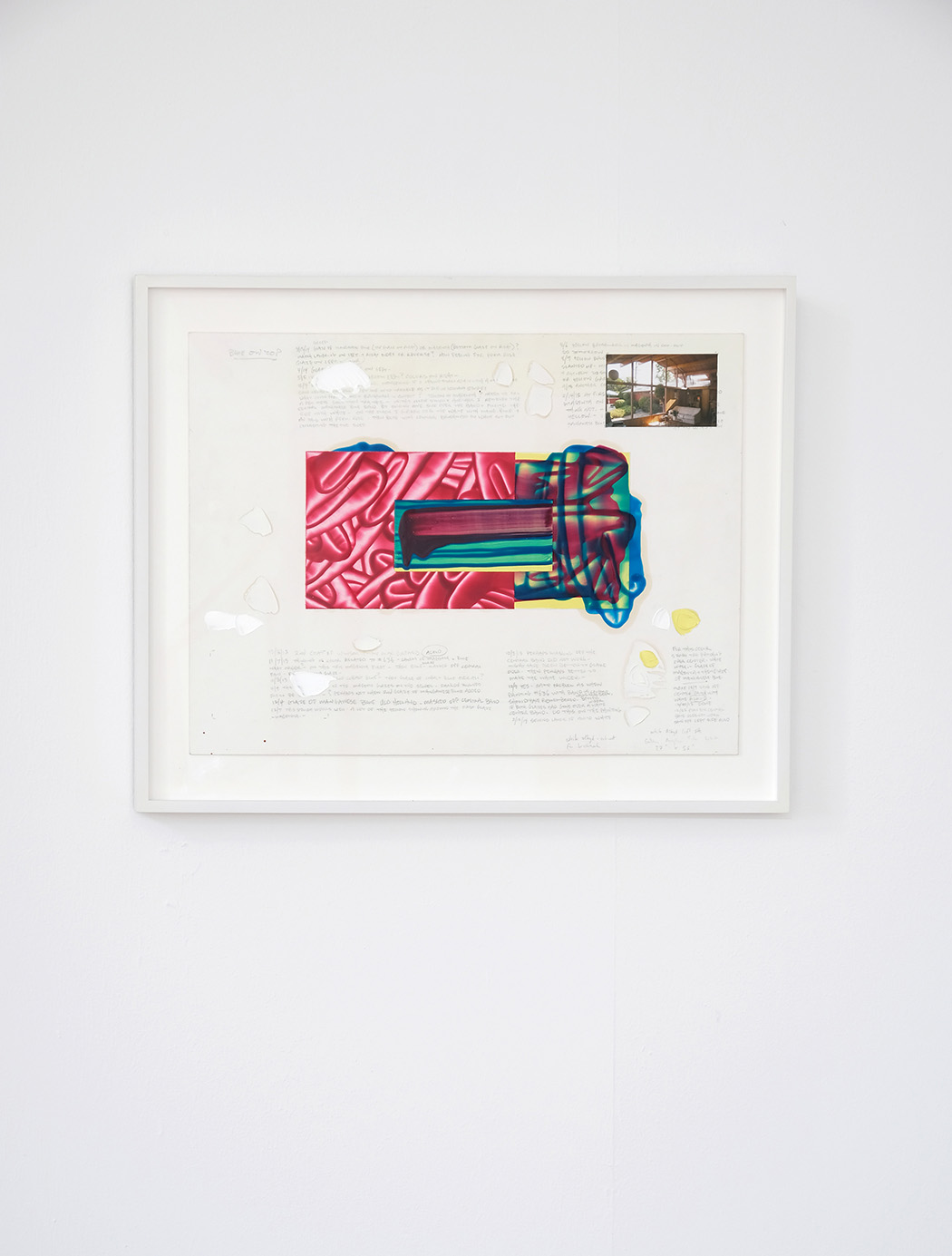 David Reed, pencil, acry, oil, fotocollage on paper