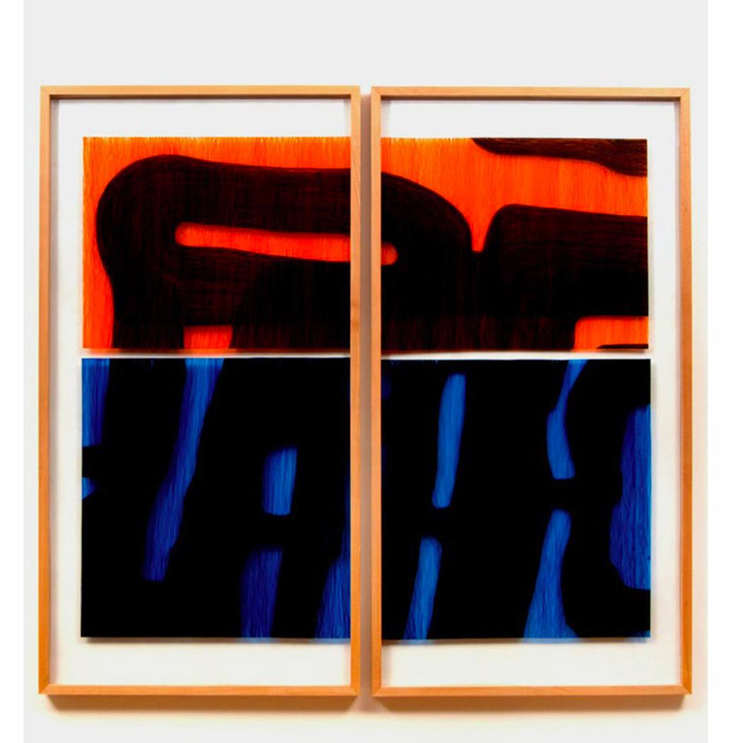 Julio Rondo, glass acryl backpaining