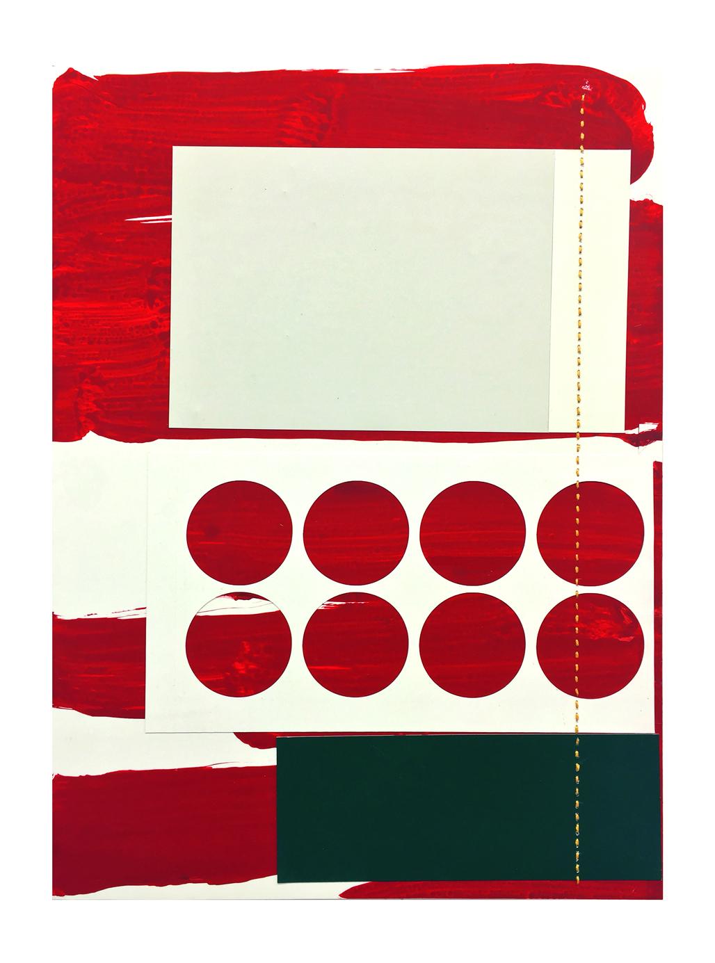 Wave sturm,acrylic, collage on yponpaper 33,5x25cm
