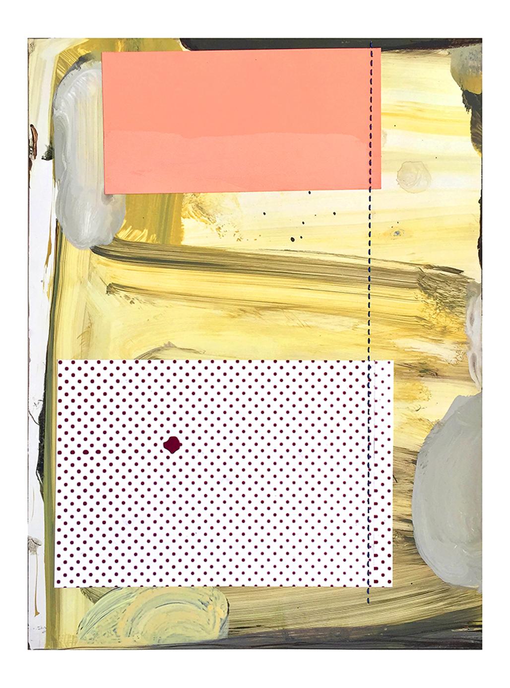 acrylic, collage on yponpaper 33 x 26,5 cm