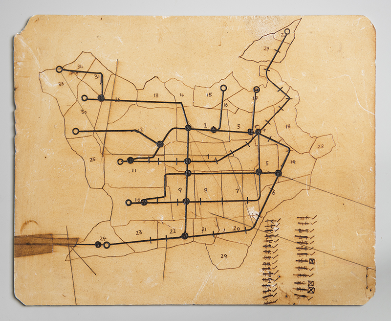 """Integrated Transport System For An Over Populated, Socialized Landmass"" 2015; 26 x 32,5 cm"