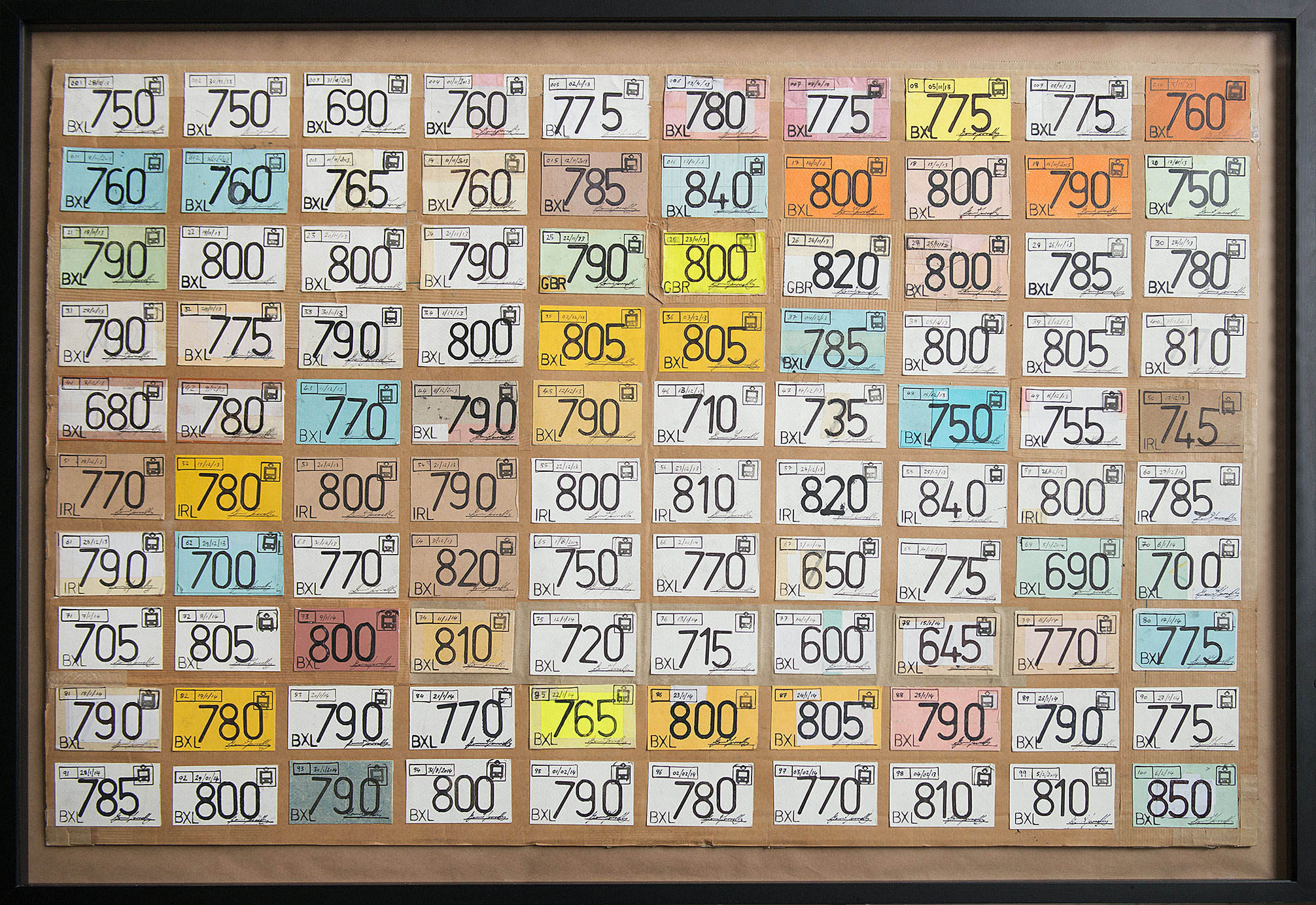 """Self Gentrification Tickets"" 2013/14; 62 x 94"